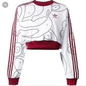 Adidas Rita Ora Paint By Numbers Crop Sweater